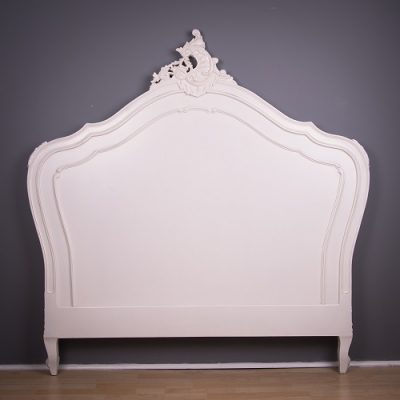 French Headboard - Antique White
