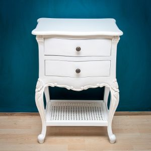 French Nightstand with Shelf