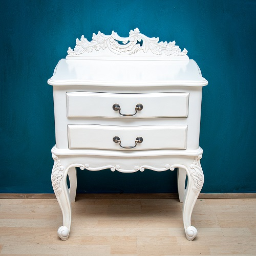 Nightstand with Antique White finish