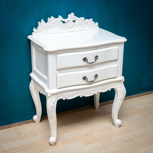 Antique White French Nigthstand
