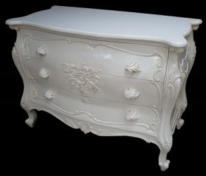 French Chest of Drawers - ANtique White