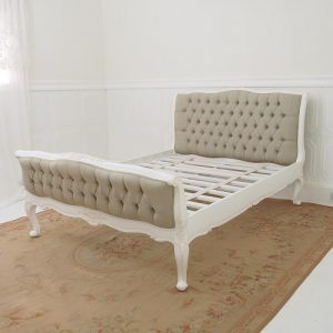 Upholstered French Sleigh Bed