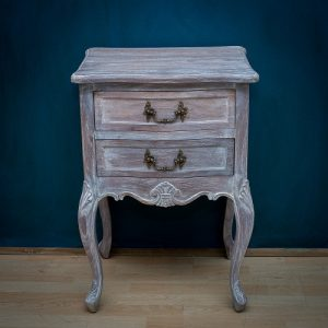 Washed Oak French Nightstand