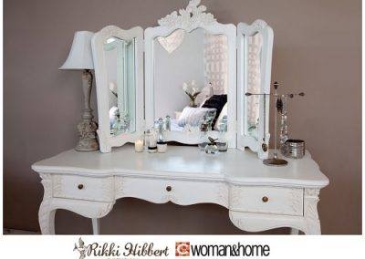 Triple Mirror French Dressing Table