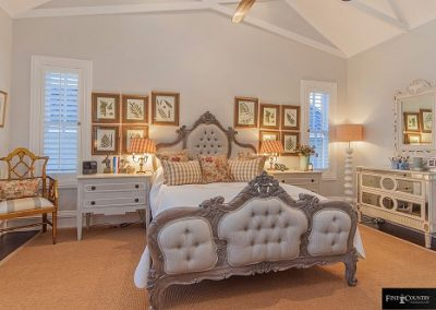 Deep-Buttoned French Bed