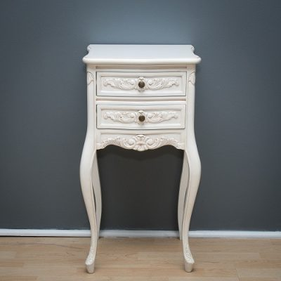 Antique WHite French Nightstand