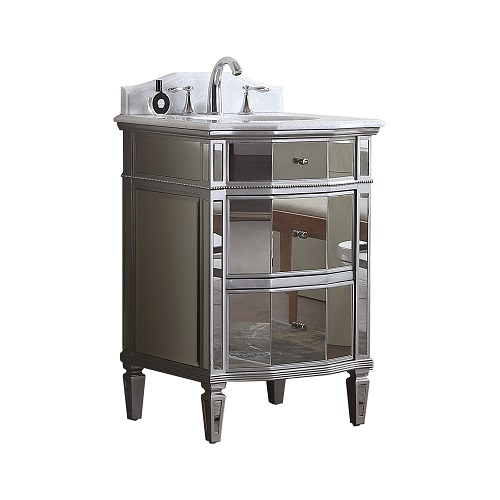 Mirrored Bathroom Cabinet with basin