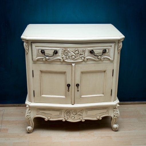 Ivory Finish French Nightstand